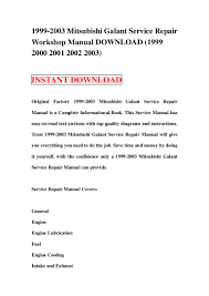 1999 2003 mitsubishi galant service repair manual download 1999 2000 u2026