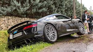 audi supercar audi r8 v10 plus crash at cars and coffee italy 2016 hq youtube