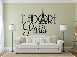 Eiffel Tower Wall Decals Je Adore Paris Wall Decals For Travelers Or France Lovers