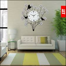living room wall clock luminousness large luxury diamond modern wall clock fashion mute
