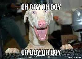 Dog Meme Generator - excited dog meme generator oh boy oh boy oh boy oh boy fa3a1f swan cup
