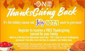 radio one thanksgiving back 107 1