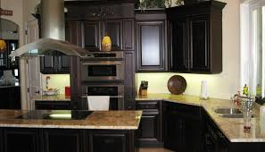 Dark Kitchen Cabinets With Light Countertops - kitchen dark kitchen cabinets with light granite countertops
