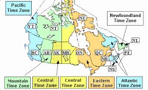 canadian map with time zones yukon time zone