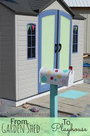 cook and craft me crazy garden shed to play house