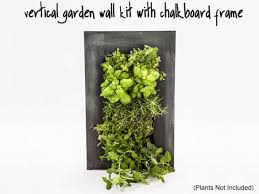vertical garden wall kit with chalkboard frame