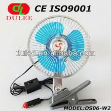 plug in car fan dc 6 inch auto car fan with clip and cigarette lighter plug global