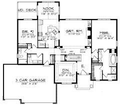 ranch floor plan gray summit traditional home plan 051d 0187 house plans and more