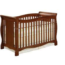 baby relax easton 4 in 1 convertible crib walnut walmart com