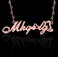 sterling silver monogram necklace and quality sterling silver monogram necklace customized