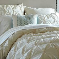 White And Cream Bedding Organic Cotton Pintuck Duvet Cover Shams West Elm
