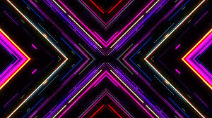 motion graphic background vj neon lights tunnel footage colorful