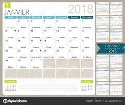 Kalender 2018 Helgdagar Franska Kalender 2018 Stock Vektor Hana11 149023187