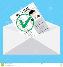 Resume Vector Approved Resume Letter Vector Work Stock Vector Image 75076433