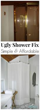 Fix Shower Door Replace Shower Door With Curtain Free Home Decor