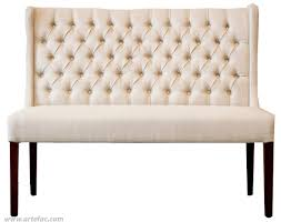 Linen Tufted Sofa by Sofa Love Seat U0026 Sectionals Sl 6900 Tufted Wing Back Bench In