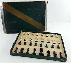 vintage staunton chess set by gits molding co chicago il no 510