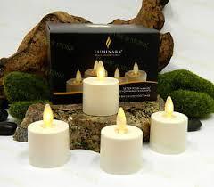 luminara battery operated tea lights flameless candles ivory