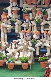 novelty garden ornaments in stock photos novelty garden