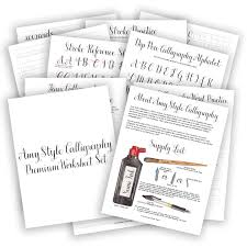 Beginner Reader Worksheets Calligraphy Worksheet Set Amy Style The Postman U0027s Knock