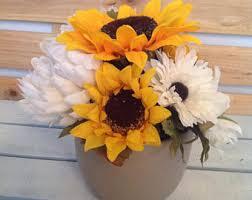 Sunflower Centerpiece Sunflower Floral Etsy