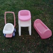 Little Tikes High Chair Little Tikes Child Size Doll Pretend High Chair Stroller Cradle