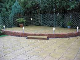 diy concrete patio ideas concrete backyard makeover garden ideas for yard modern white