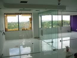 contemporary smart glass windows beach with modern bathrom beach