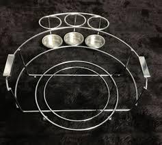 buffet caddy organizer plate holder buffet chrome plated excellent