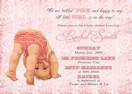 pink baby shower invitation and free thank you card