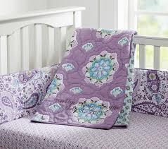 Purple And Aqua Crib Bedding Paisley Baby Bedding Sets Sweet Pink Aqua The Adorable Ruffle