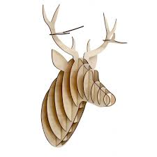 home design white and bronze faux deer head antlers fake
