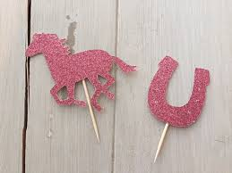 Kentucky Derby Decorations Aliexpress Com Buy Fashion Glitter Horse Equestrian Cupcake