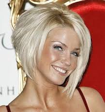 short hairstyle angled away from face inverted bob hairstyle back view angled bob hairstyle top of