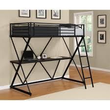 bedroom metal loft bed with corner desk medium carpet table