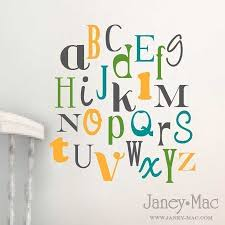 Alphabet Wall Decals For Nursery Alphabet Vinyl Wall Decal Nursery Vinyl Alphabet Wall Decor