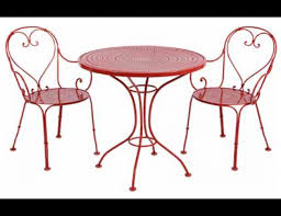 Wrought Iron Bistro Table Woodard Parisienne Collection 3 Pc Wrought Iron Bistro Set Wrought