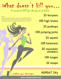 Can Challenge Kill You What Doesn T Kill You Workout Workout Exercises And Fitness