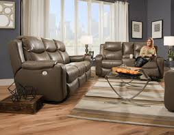 Reclining Sofa With Console by Marvel Double Reclining Sofa With Console And Power Headrests By