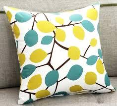 yellow and blue leaf sofa cushion covers autumn decorative pillows