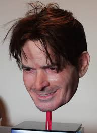ebay halloween props creepy charlie sheen mask wins mask fest