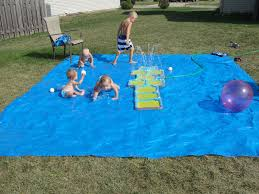 1 little dude and 3 little ladies it u0027s our very own splash pad