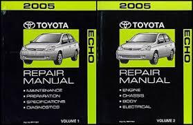 2005 toyota manual 2005 toyota echo repair shop manual set original