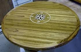 48 round teak table top custom wood table tops cockpit tables galley tables for boats