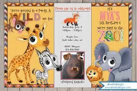 curious george jungle safari birthday invitations