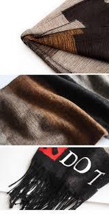 winter cotton dota 2 men print cashmere scarf brand stripe scarves