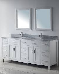 white double sink bathroom vanity studio bathe kalize 75 inches white modern double sink solid