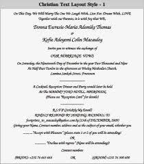 Wedding Reception Card Wording Christian Wedding Invitations Wording Samples Lake Side Corrals