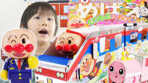 kids toys review anpanman japanese anime toys shiny train paper