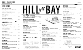 menu for brunch brunch and lunch in kips bay murray hill nyc hill and bay